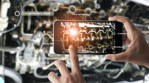 Fotografie, Obraz  Augmented reality concept