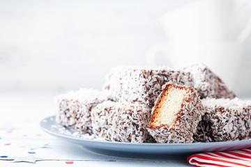 Australian Lamington cakes ...