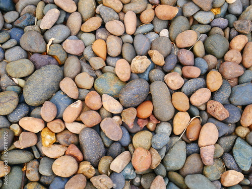 stone garden background,pebbles beach stone - 268789726