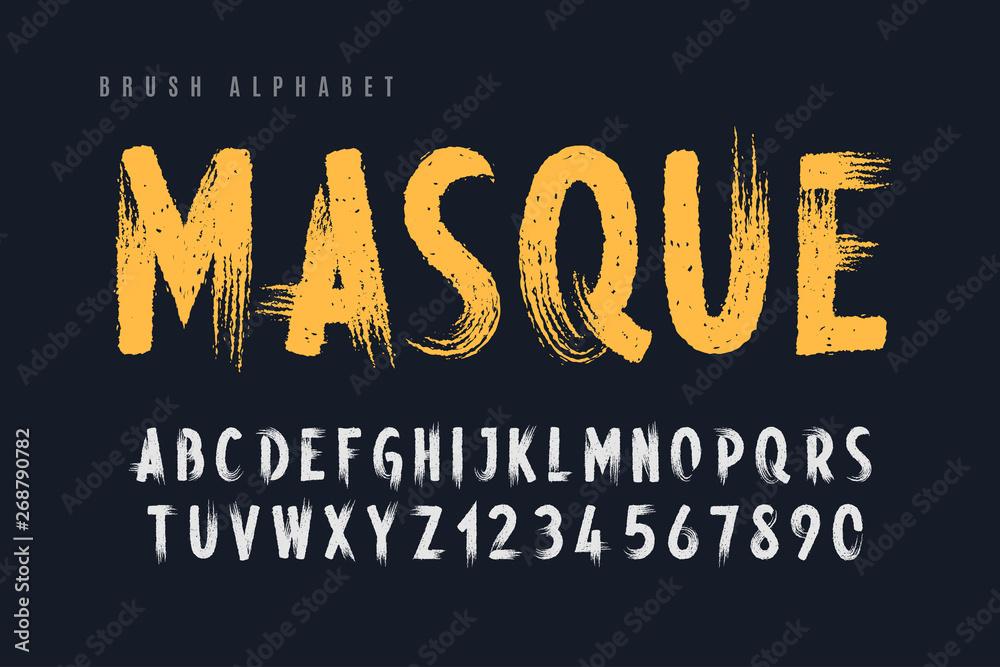 Stylowy, malowane pędzlem wielkie litery wektorowe <span>plik: #268790782 | autor: Aleksandr</span>