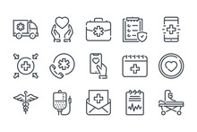Healthcare Related Line Icon S...