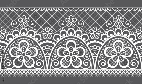 Seamless Vector Pattern Retro Wedding Lace Design Old Fashioned