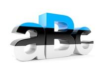 Abc Text With Estonian Flag