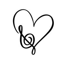 Hand Drawn Love Music Vector L...