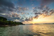 Coastline In Sunset In Thailand