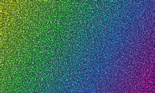 Colorful Holographic Gradient Dot Spray Grunge Vector Backdrop Texture