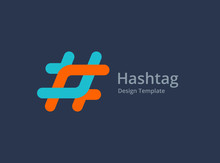 Hashtag Symbol Logo Icon Design Template Elements