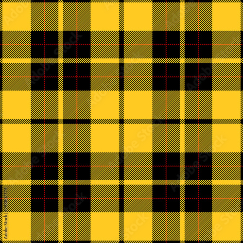 89833d6b18 Yellow and Black Tartan Plaid pattern. Traditional Scottish check textile  backgrounds.