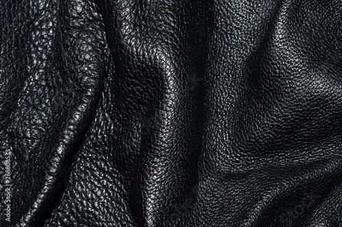 Pinturas sobre lienzo  Texture of black leather rumpled