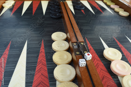 Canvas Backgammon board