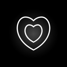 Heart  Inside Heart Neon Icon. Elements Of Heartbeat Set. Simple Icon For Websites, Web Design, Mobile App, Info Graphics