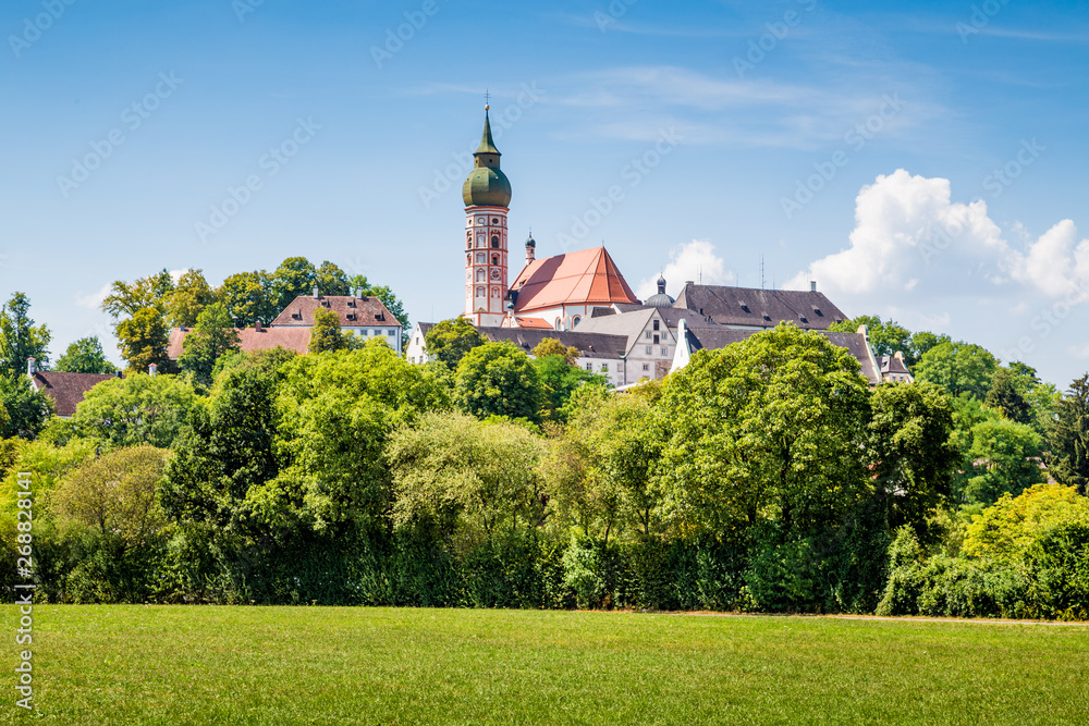 Fototapety, obrazy: Famous Andechs Abbey in summer, district of Starnberg, Upper Bavaria, Germany