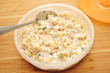 Chilled Macaroni Salad In A Pl...