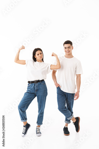 Printed kitchen splashbacks Artist KB Full length portrait of a young attractive couple