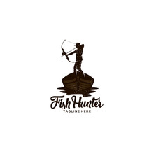 Fish Hunter With Bow And Woode...