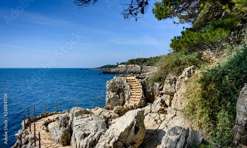Beatiful  coastal path on the Cap d'Antibes, France. Wallpaper Mural