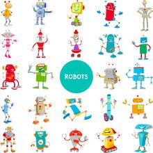 Cartoon Robot Characters Large...