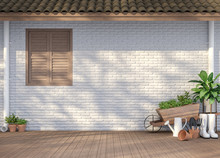 House Terrace With Garden Equi...