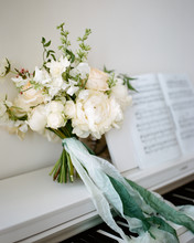 Pretty Bouquet Standing On Piano