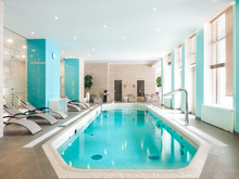 Modern Pool With Loungers