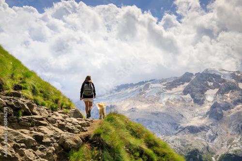 Fotografie, Obraz  trekking sul sentiero Viel del Pan, dolomiti