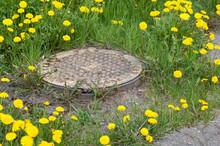 Rust Manhole Cover