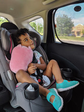 Little Girl In Her Car Seat