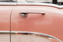 Door Detail On A Pink Vintage ...