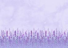Lavender Field Pattern On Purp...