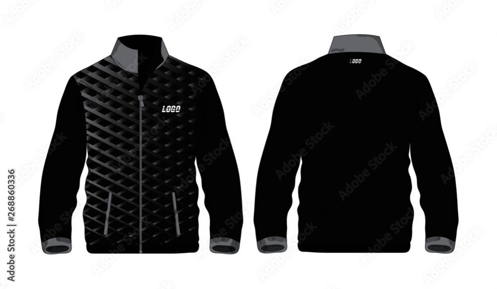 Fototapeta Sport Jacket grey and black template for design on white background. Vector illustration eps 10.