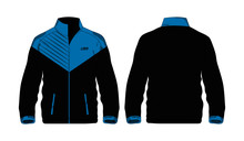 Sport Jacket Blue And Black Te...
