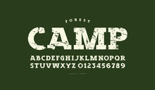 Slab Serif Font In Classic Style