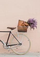 Bike Basket With Flowers