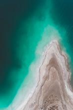 Geological Rock Formation In The Dead Sea, Israel