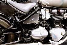 Bangkok,thailand- May 12, 2019:Motor Bike Detail-A Triumph Motorcycle Was Showed In Motorcycle Shop