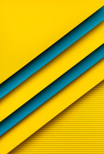 Yellow And Blue Paper Design