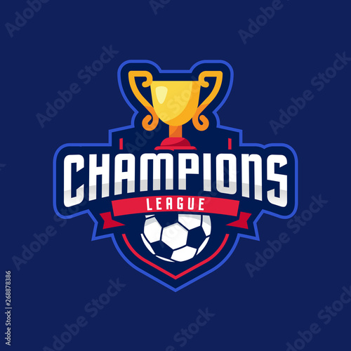 Canvas Print Soccer Champions League Logo Sport