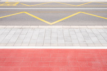 Red And White Pavement Surface