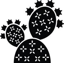 Prickly Pear Cactus Glyph Icon