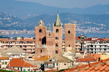 The Towers Of The Old Town Of Albenga