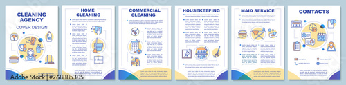 Fotografie, Obraz Cleaning agency brochure template layout