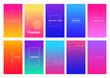 Fashion social media stories duotone template set