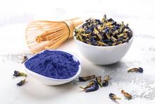 Blue Pea Butterflly Matcha Tea