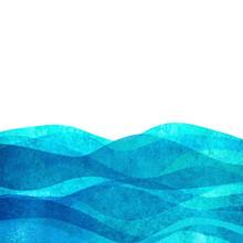 Watercolor Transparent Wave Se...