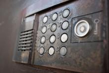 Old Vintage Intercom On Apartment Building Doors