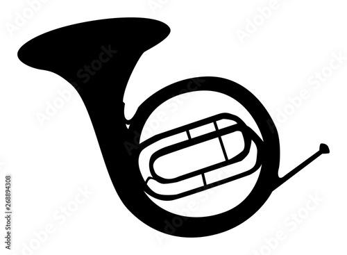 Fotomural  Silhouette noire de cor