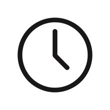 Clock Icon. Time Symbol