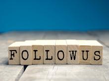 Follow Us On Wooden Blocks