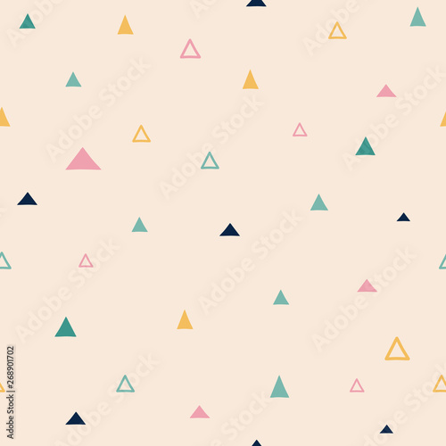 Seamless pattern with triangle Wallpaper Mural