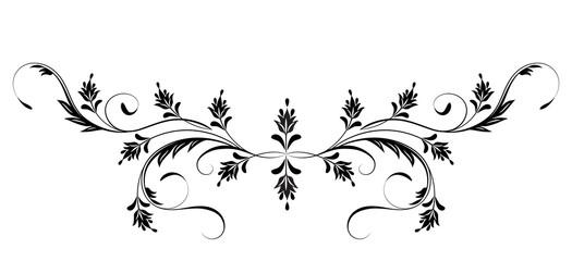 Naklejka Do salonu Vintage floral ornament